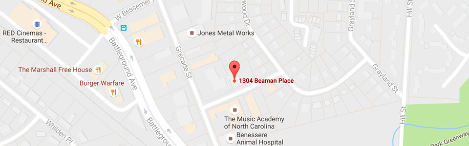 Beaman Place Map at Reynolds Orthodontics in Greensboro NC